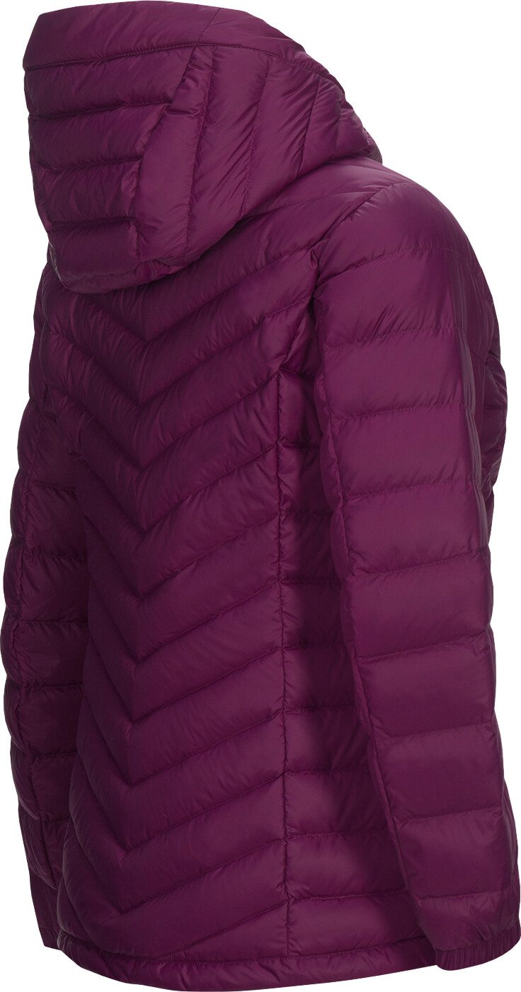 Hooded Chaqueta es Frost Down Peak Mujer RojoCampz Performance 0ywmPvnON8